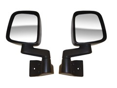Black Door Mirror Kit for Jeep Wrangler YJ and TJ (1987-2006)