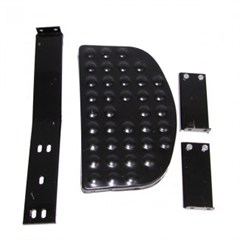 Black Side Step for Jeep Willys and CJ (1946-1971)