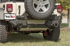 XHD Aluminum Bumper Pods Wrangler JK 2007-2016 Rear Black Rugged Ridge