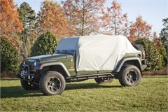 Weather Lite Cab Cover Wrangler JK 4D 2007-2017 Gray Rugged Ridge