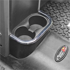 Chrome Rear Cup Holder Accent for 2 and 4 Door Jeep Wrangler JK (2007-2010)