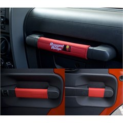 Red Neoprene Grab Handle Kit for Jeep Wrangler JK 4D (2007-2010)