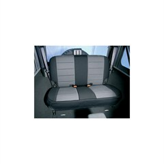 Gray and Black Neoprene Rear Seat Covers for Jeep Wrangler TJ (1997-2002)
