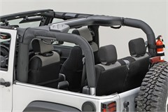 Polyester Roll Bar Cover Wrangler JK 2D 2007-2016 Black Rugged Ridge