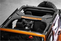 Vinyl Roll Bar Cover Wrangler JK 4D 2007-2016 Black Rugged Ridge