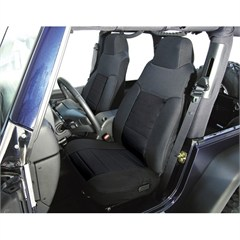 Black Fabric Front Seat Covers for Jeep Wrangler YJ (1991-1995)
