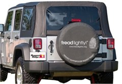 """30-32"""" Inch Black Tire Cover Tread Lightly Edition"""