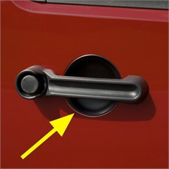 3 Piece Door Handle Guard Kit- 2 Door Jeep Wrangler JK 2007-2014