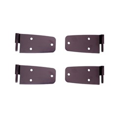 Black Door Hinge Kit for Jeep Wrangler CJ and YJ (1976-1993)