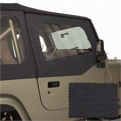 Upper Door Skins for Wrangler YJ 1988-1995 in Black Denim by Rugged Ridge