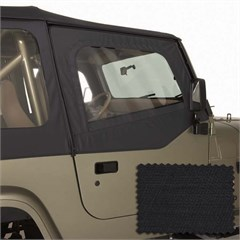 Upper Door Skins for Jeep Wrangler YJ 1988-1995 in Black Diamond by Rugged Ridge
