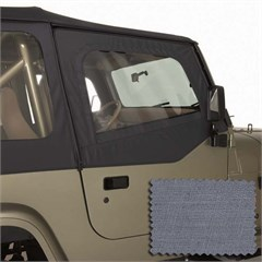 Jeep Wrangler Soft Upper Door Skins, Gray (1988-1995)