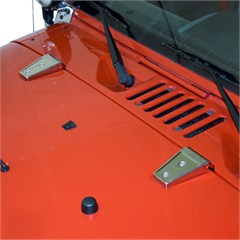 Hood Hinge Cover Pair Wrangler JK 2007-2017 Stainless Rugged Ridge