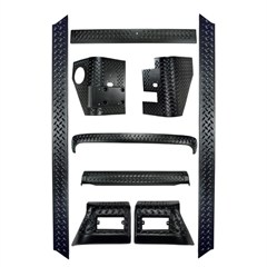 9 Piece Full Body Armor Kit Ridge for Jeep Wrangler (1997-2006) and LJ (2004-2006)