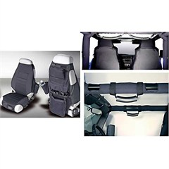 Black Interior Kit for Jeep Wrangler YJ (1987-1995) and TJ (1997-2006)