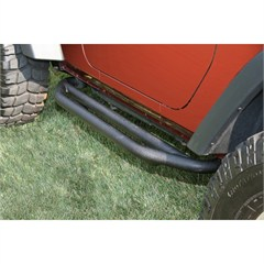 Pair of Textured Black Side Armor for 2 Door Wrangler JK (2007-2015)