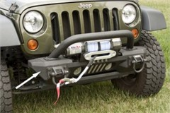 Black XHD Aluminum Front Bumper Ends for Jeep Wrangler JK (2007-2014)