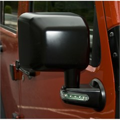 Black Right Hand Mirror With Turn Signal Indicators for Jeep Wrangler JK (2007-2014)