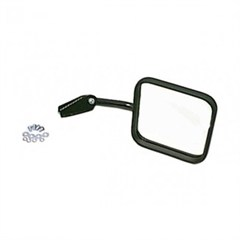 Right Side Black Convex Mirror and Arm for Jeep CJ (1958-1986)