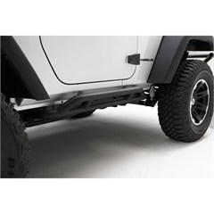Black RRC Rocker Guards for 2 Door Jeep Wrangler JK (2007-2015)