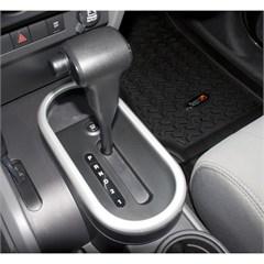 Auto Transmission Silver Shift Bezel- Jeep Wrangler JK 2007-2010