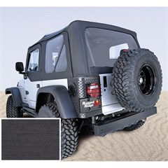 Jeep Wrangler Soft Top, No Drs, Clear Wndw, BLK Denim (1997-2002)