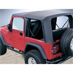 Jeep Wrangler Soft Top w/Drs, Clear Wndw, Black Diamond (2003-2006)