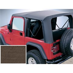 Jeep Wrangler Soft Top, Clear Windows, Khaki Diamond (2003-2006)