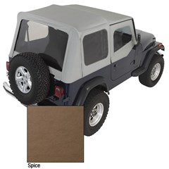 Repalcement Soft Top w/Clear Windows&Door Skins YJ 1987-1995 Spice