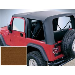 Jeep Wrangler Soft Top, No Drs, Clear Wndw, Dark Tan (1997-2002)
