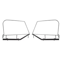 Pair of Soft Top Upper Door Skin Frames for Jeep Wrangler TJ (1997-2006)