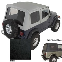 Replacement Soft Top Skin w/DrSkns Tinted Wndws Blck Dnm(1987-1995)