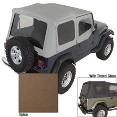 Jeep Wrangler Soft Top w/Dr Skns Tinted Wndws, Spice (1987-1995)