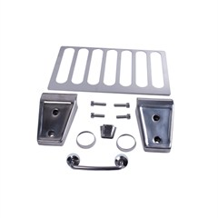 Stainless Steel Hood Dress-up Kit for Jeep Wrangler JK (2007-2014)