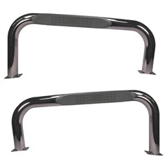 Stainless Steel Black Nerf Bars by Rugged Ridge for Jeep CJ7 (76-86)