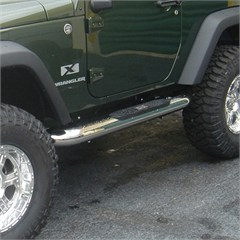 Stainless Steel 4 Inch Round Side Step 2 Door JK (2007-2015)
