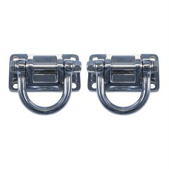 Stainless Steel D-Ring Pair for XHD Bumper on JK, TJ, YJ, CJ