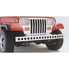 Stainless Steel Front Bumper w/Holes- Jeep Wrangler YJ 1987-1995