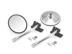 Stainless Steel Quick Release Mirrors, Jeep Wrangler TJ, LJ, JK