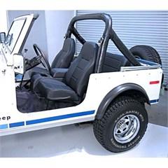 Standard Front Bucket Seat, Black, 76-02 Jeep Cj & Wrangler