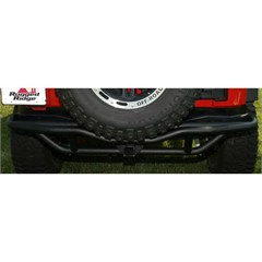 Textured Black Rear RRC Bumper With Hitch from Rugged Ridge for JK Wrangler (2007-2014)