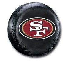 San Francisco 49ers NFL Tire Cover - Black Vinyl