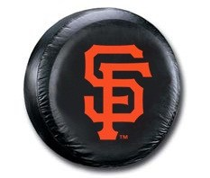San Francisco Giants MLB Tire Cover - Black Vinyl