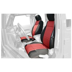Seat Cover Front JK (2011-2014),  Black/Red