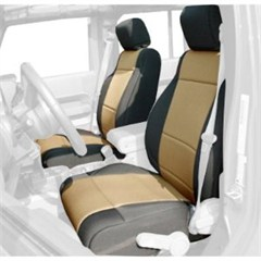 Seat Cover Front JK 2011-2014,  Abs, Black/Tan