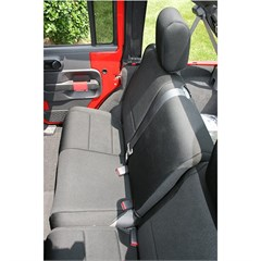 Seat Cover Wrangler JK 2D 2007-2016 Rear Black Rugged Ridge