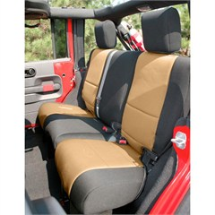 Seat Cover Wrangler JK 4D 2007-2017 Rear Black & Tan Rugged Ridge