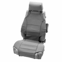 Neoprene Seat Vest Protector Wrangler JK 2007-2016 Gray Rugged Ridge