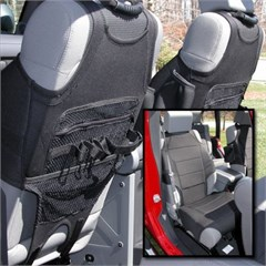 Neoprene Seat Vest Wrangler JK 2007-2016 w/o ABS Black Rugged Ridge