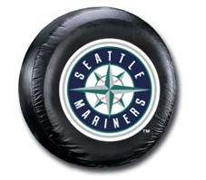 Seattle Mariners MLB Tire Cover - Black Vinyl